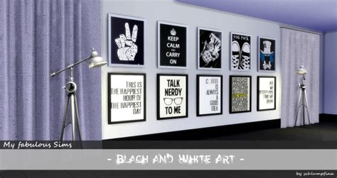 Black And White Painting Set By Schlumpfina At My Fabulous