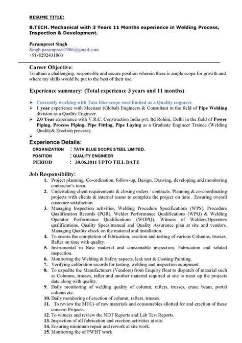 editable welding resume template  format  databaseorg