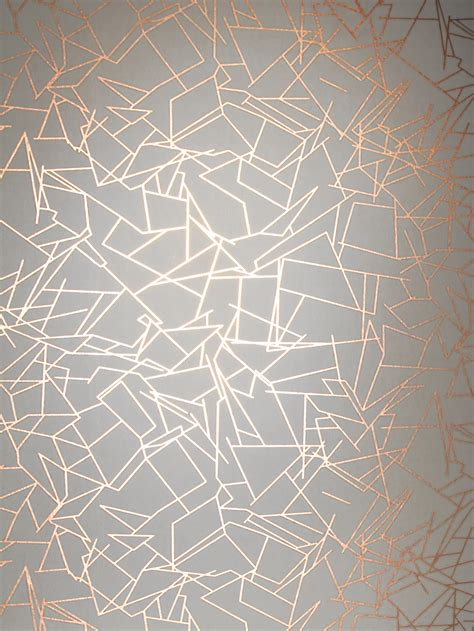 angles wallpaper copper rose white monument interiors