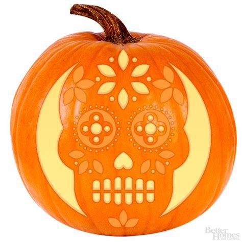 sugar skull pumpkin stencil