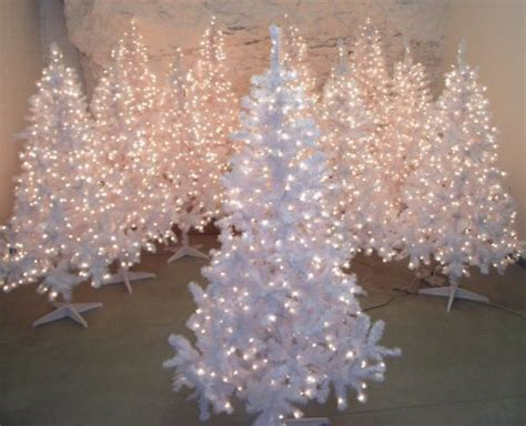 White Pre-lit Artificial Christmas Tree