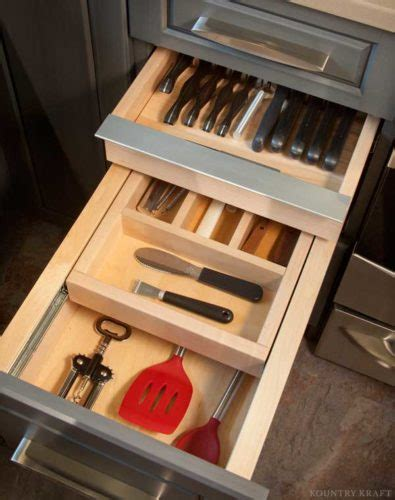 custom kitchen drawer organizers custom kitchen storage cabinets in ephrata pa kountry kraft 6385