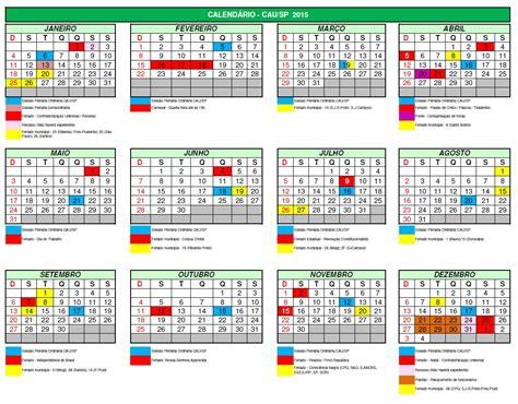 confira calendario de feriados causp causp