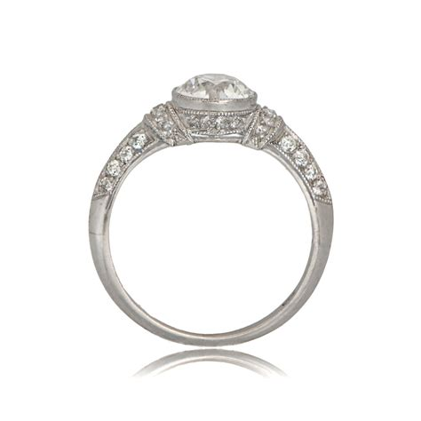 deco style engagement ring estate jewelry