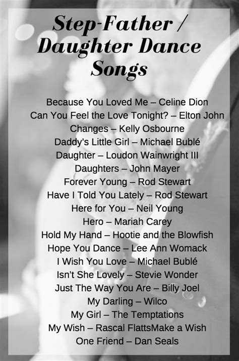 stepfather daughter songs wedding etiquette pinterest