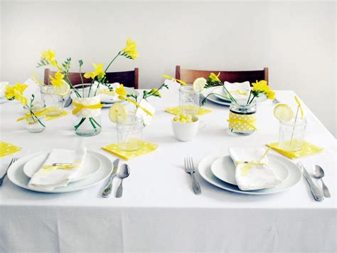 Kitchen Table Centerpiece Ideas For Everyday by Yellow And White Baby Shower Brunch Hgtv