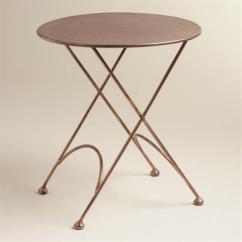 Round Ariana Metal Accent Table  World Market. Folding Tables Target. Penguin Desk Copies. Writing Desk Design. Ge Microwave Drawer. Small Antique Table. L Shaped Computer Desk Cheap. Roll Top Computer Desk Canada. Iron Man 2 Pepper Potts Desk Toy