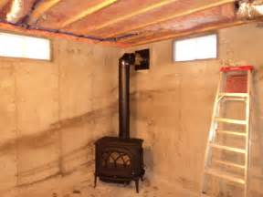 Electric Basement Heater by Installing A Wood Stove In Basement Wood Stove Home