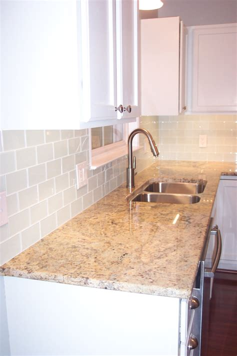 glass subway tile backsplash installing a new glass tile backsplash is a great diy
