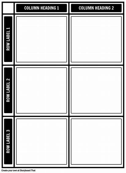 3x2 Template Chart Templates Storyboard Healthy Unhealthy