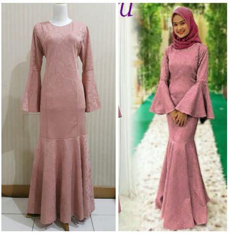 longdress murah jual beli baju muslim murah gamis duyung terbaru gamis