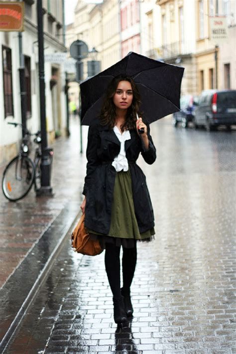 Rainy Summer Day Outfits For College/ School 2018
