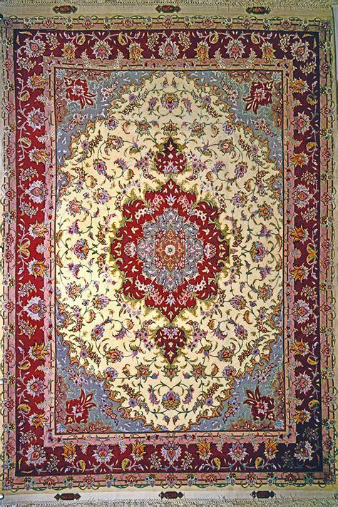 Qom Rugs by Tabriz Silk Persian Rug Item 10