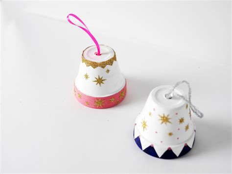 Diy Clay Pot Christmas Bell Ornament Cleaning Bathroom Tile Floor Pink And Brown Ideas White Design Pebble Rohl Fixtures San Diego Tiles For Non Slip Cloakroom