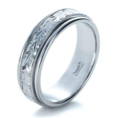 custom hand engraved wedding band  seattle bellevue