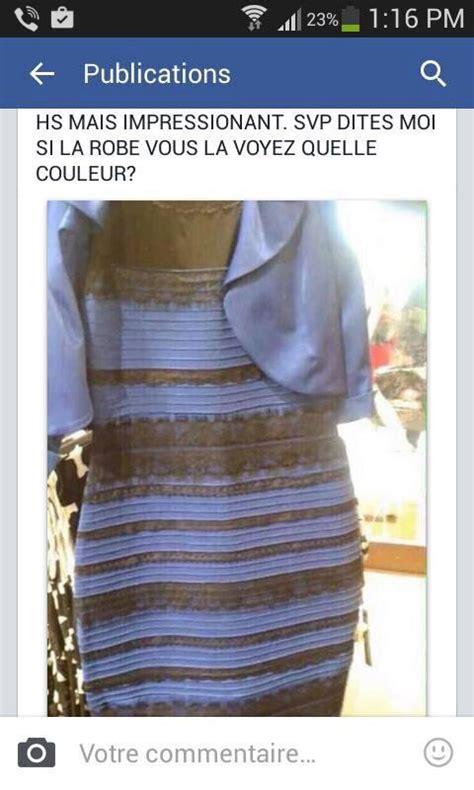 tout or monde est avec cette robe qui bizzarement change