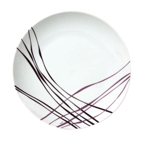 desserte de cuisine pas cher assiette à plate en porcelaine 27 cm lot de 6 liane