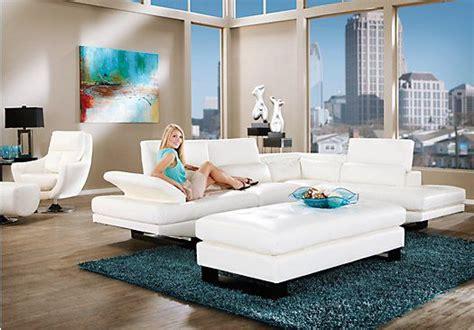 shiloh white  pc sectional living room en  muebles