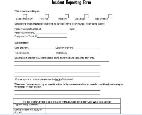17889 sle incident report form sle incident report forms 28 images sle of incident