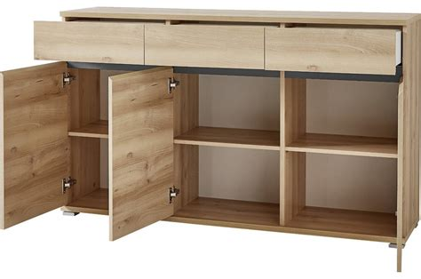 Bahut Buffet Salon Design Décor Bois Hêtre  144 Cm Cbc