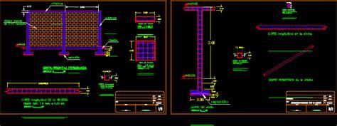 edge enclosure wall dwg detail  autocad designs cad