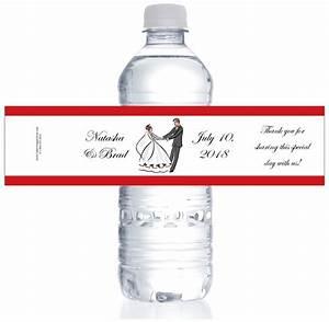 wedding watwedding bride and groom water bottle labelser With bride and groom water bottle labels