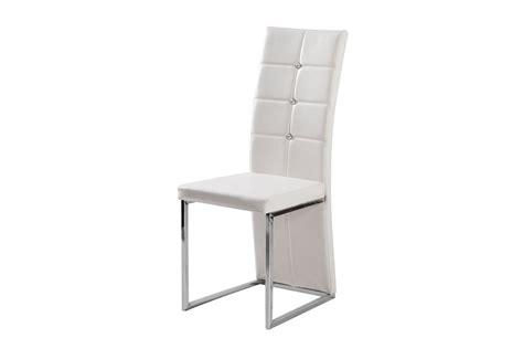 horloge design cuisine chaises design mona simili cuir et acier chromé blanc