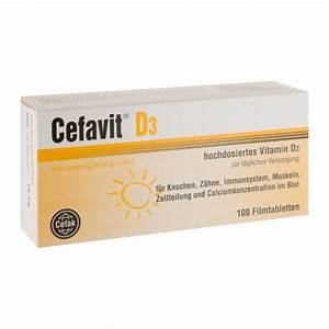 Vitamin D Dosierung Berechnen : cefavit d3 filmtabletten 100 st ck bei nu3 bestellen ~ Themetempest.com Abrechnung