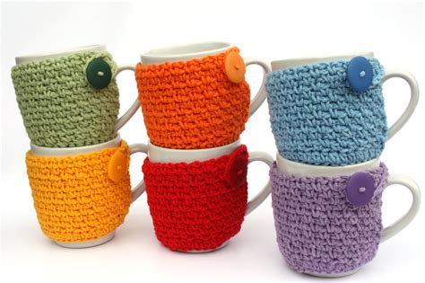 Rainbow mug cozy free crochet pattern by you should craft. Coffee Cup Cozy Crochet Cup Sleeve You Pick the by Sweetbriers