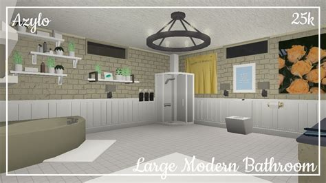 roblox bloxburg large modern bathroom  youtube