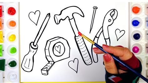 coloring tools  painting pages  kids  learn drawing