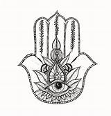 Hamsa Coloring Pages Hand Mandala Outline Tattoo Drawing Simple Template Stencil Designs Colouring Printable Arm Coloriage Adults Artist Main Fatma sketch template