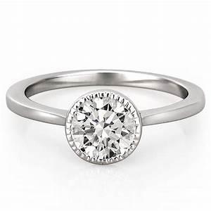 Milgrain Bezel Engagement Ring Callan Engagement Ring