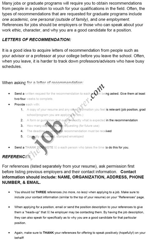sample letters  recommendation template  format