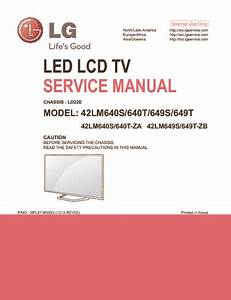 Lg 42lm640  42lm649 Chassis Ld22e  Service Manual  Repair