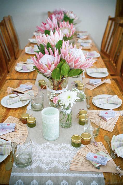 Kitchen Table Setting Ideas - vintage high tea bridal shower by megan van zyl