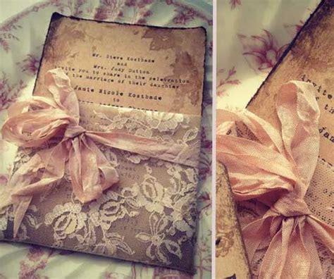 vintage einladungen zur hochzeit spitze rosa schleife