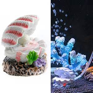 shell pearl air stone aquarium fish tank ornament shell