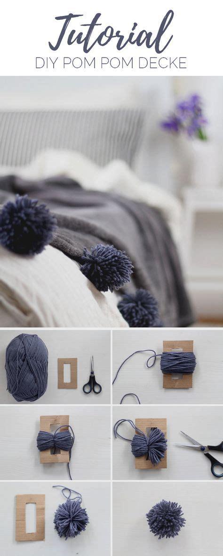 Schwere Decke Selber Machen by Diy Decke Mit Pompons Selber Machen Fabric Craft
