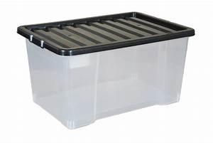 Aufbewahrungsboxen Kunststoff Mit Deckel : schwarzes kunststoff lagerbeh lter ~ Frokenaadalensverden.com Haus und Dekorationen