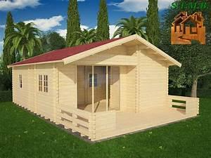 Chalet En Bois Habitable Livré Monté : chalet fay de 50 m2 avec terrasse et une grande baie vitr e ~ Dailycaller-alerts.com Idées de Décoration