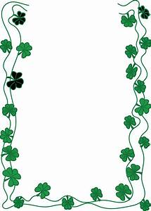Free Clipart Of A St Patricks Day Shamrock Clover Border