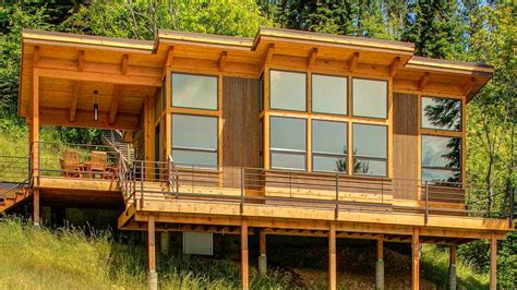 a prefab timber framed cabin fabcab timbercab small house bliss tiny house listing youtube
