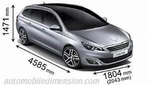 Coffre 308 Sw : dimensions des voitures peugeot longueur x largeur x hauteur ~ Medecine-chirurgie-esthetiques.com Avis de Voitures