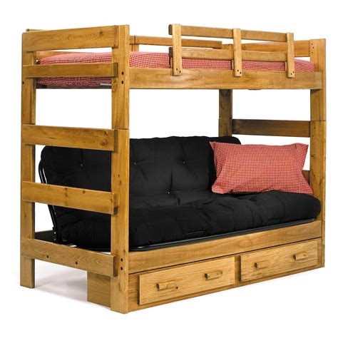 Savannah Twin Over Futon Bunk Bed  Kids Storage Beds At