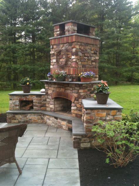 outdoor fireplace doylestown pa landscaping company nj