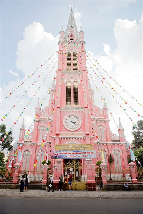 vietnam roundtrip ho chi minh city  pink church