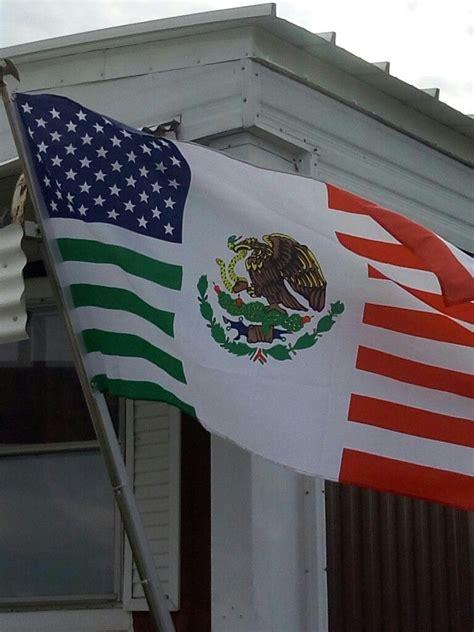 foto de Combined Mexican & American flag Mexican american flag