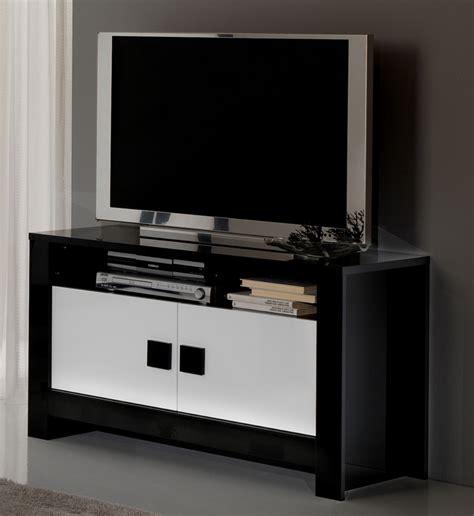 bureaux moderne meuble tv pisa laquée bicolore noir blanc noir blanc