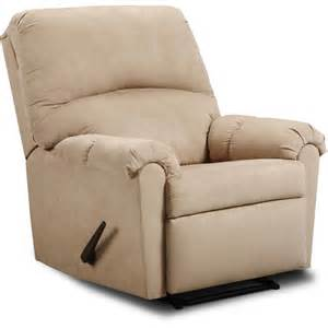 simmons microfiber 3 way rocker recliner taupe furniture